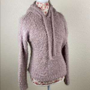 NWT Woven Heart Pink Pullover Sweater